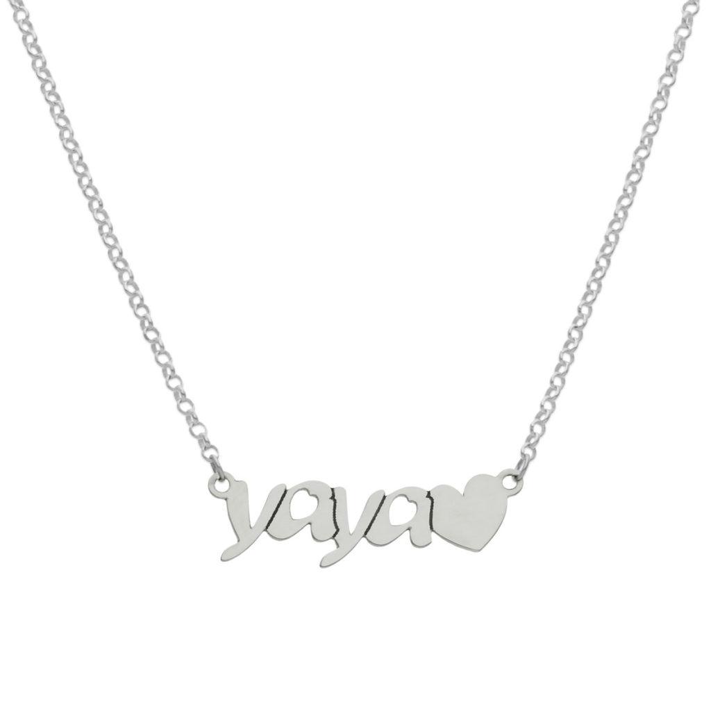 Gargantilla yaya + corazon plata 925mm