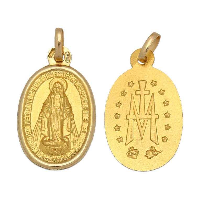 Medalla oro 18kl v. milagrosa- 15×24